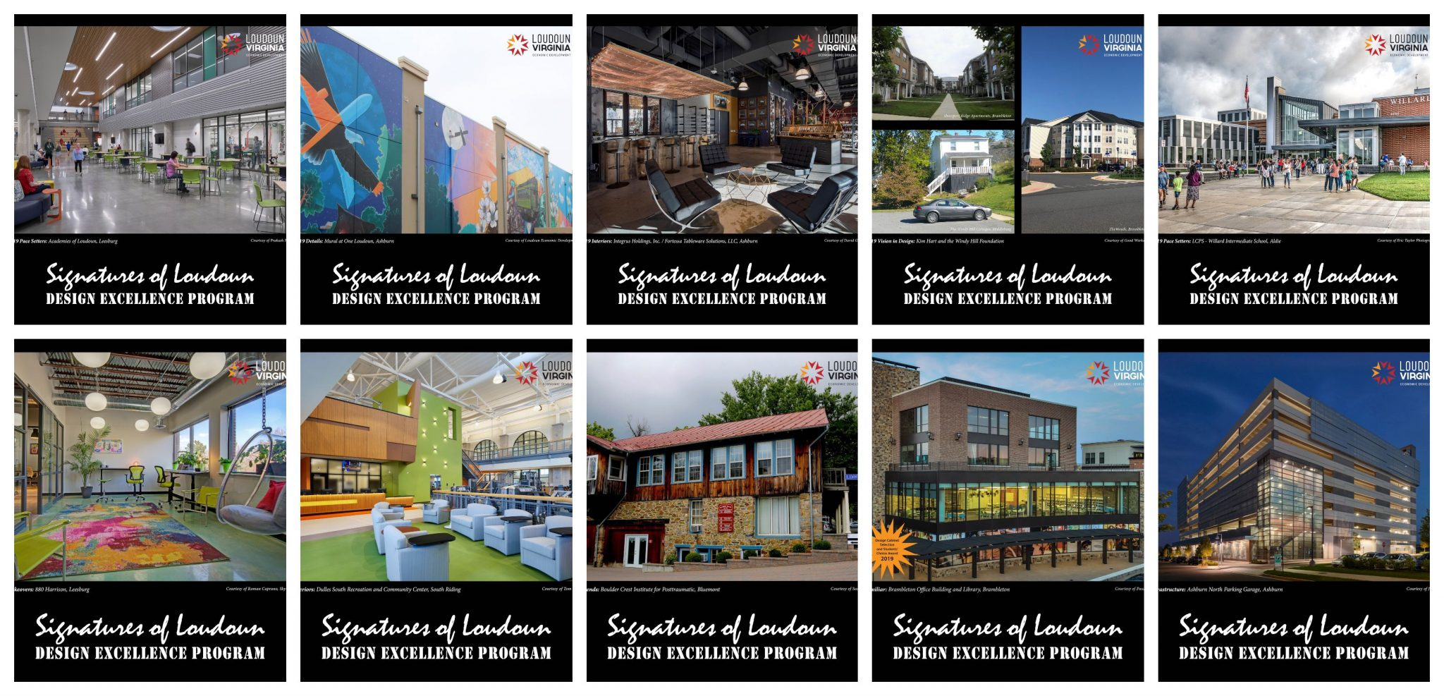 AIA Virginia Honors Design Cabinet Signatures of Loudoun 2019