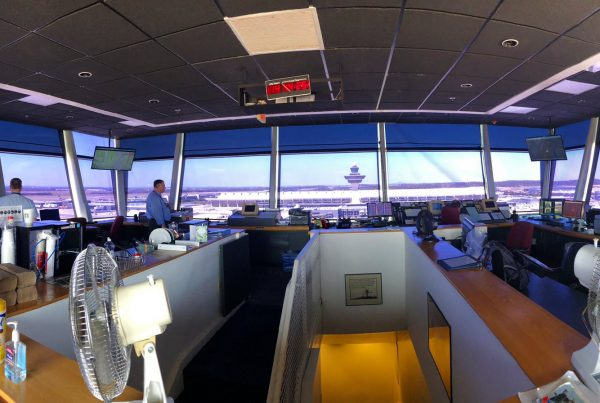 dulles international airport ground control tower view